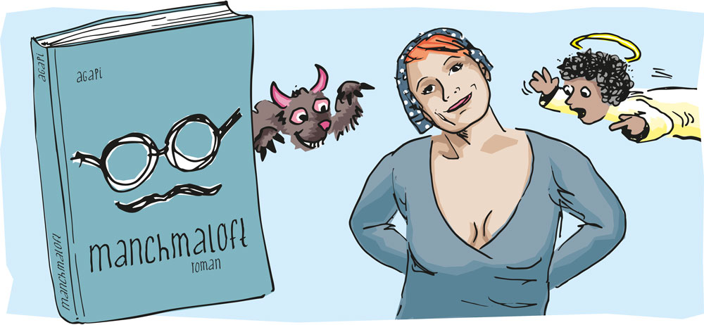 manchmaloft roman buch autor autorin agapi illustration persoenlichkeitsentwicklung reflektion
